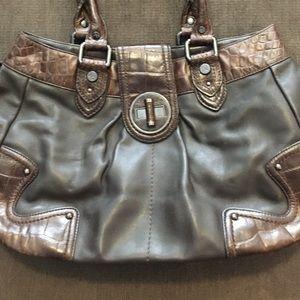 Adrienne Vittadini Brown Leather Bag